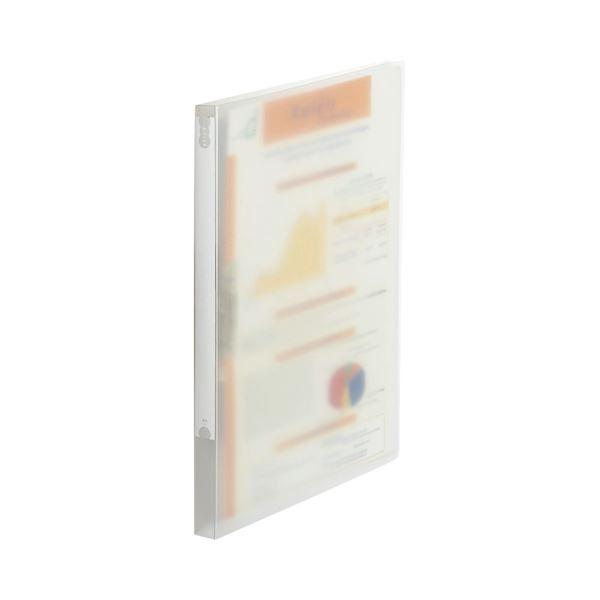 (まとめ) TANOSEE Zファイル(PP表紙) A4タテ 100枚収容 背幅20mm クリア 1セット(10冊) 【×5セット】