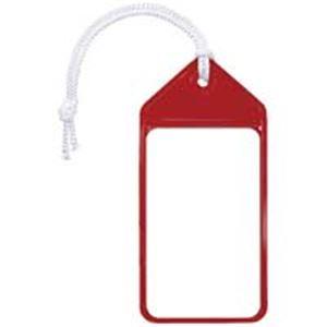 (業務用100セット) 共栄プラスチック ネームタッグ旅行名札 C-80-5-R レッド 5枚