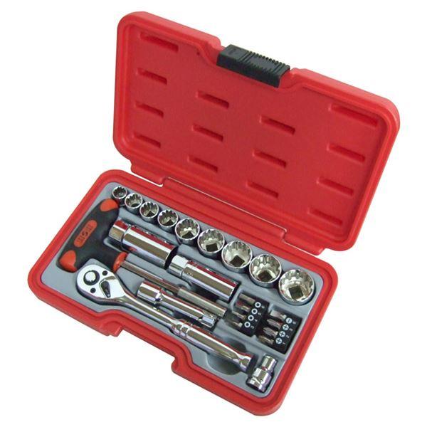 (業務用3個セット) H&H ソケットレンチセット/作業工具 【23個入り】 差込角:9.5mm H-3023 3/8
