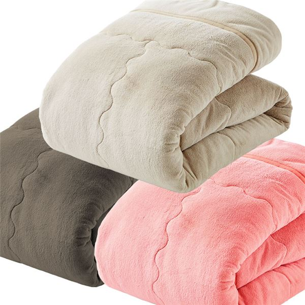 ぬくぬく快適!あったか5層構造カラー毛布 【シングルサイズ/3色組】 衿付き マイクロファイバー使用