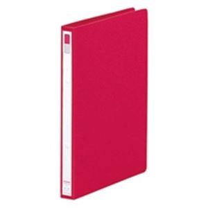 (業務用100セット) LIHITLAB リング式ファイル 【A4/2穴】 タテ型 背幅:27mm F-867U-3 赤