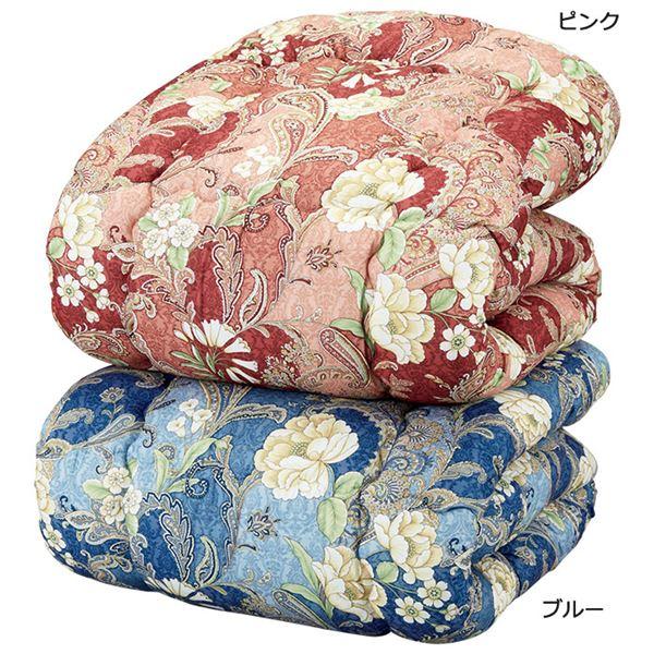 洗える羽毛タッチ掛け布団/寝具 【ダブルサイズ/ブルー】 日本製
