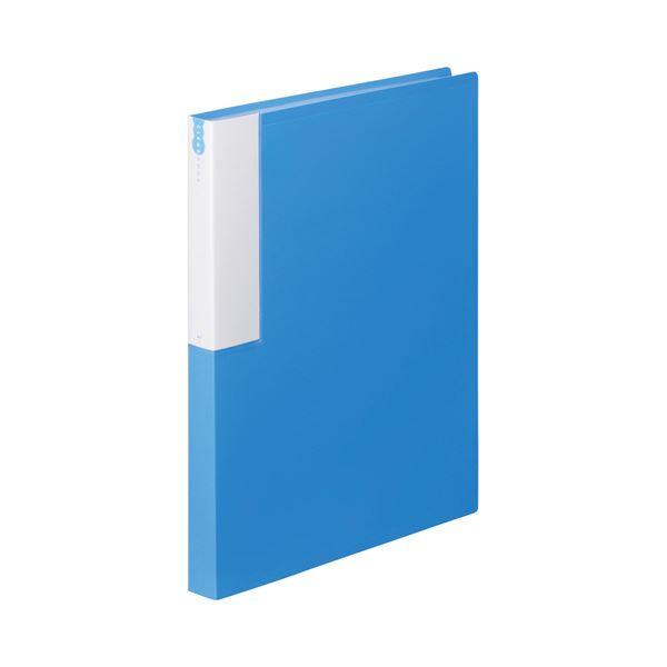 (まとめ) TANOSEE クリヤーブック(クリアブック) A4タテ 36ポケット 背幅24mm ブルー 1セット(10冊) 【×5セット】