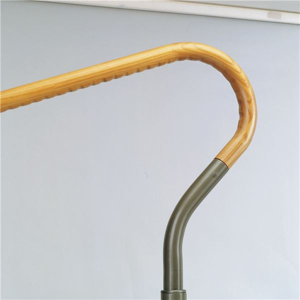上がりかまち用手すりGR 高さ5段階調節付 固定部カバー/滑り止め付き 豊通オールライフ (介護用品)