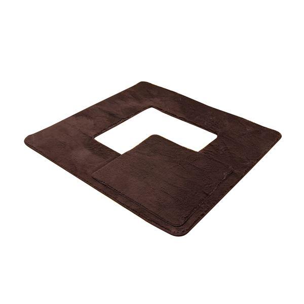 堀りごたつ用マット ラグマット カーペット 4畳 無地 『Hフィリップ堀』 ブラウン 約200×300cm(くり抜き部90×150cm) ホットカーペット対応