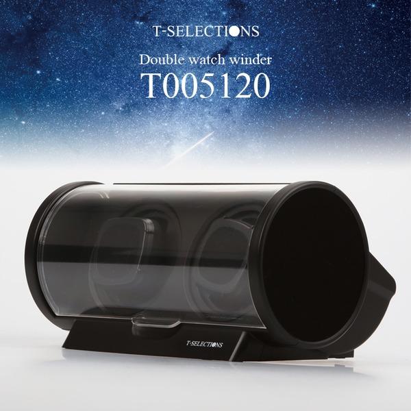 T-SELECTIONS ワインディングマシーン 2本同時巻き T005120 3回転モード 4タイムコントロール ブラック
