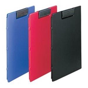 (業務用5セット) LIHITLAB クリップファイル F-2650-24 A4E 黒 10冊