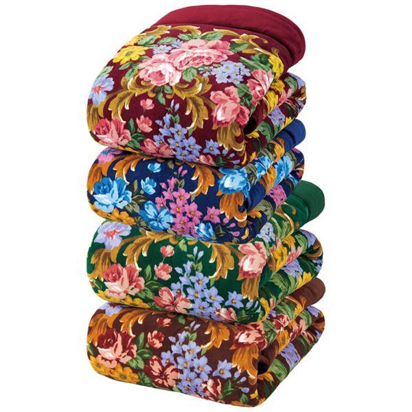 ボリュームたっぷり軽くて暖かい5層構造毛布セット 【シングル 4色組 ワイン・ブルー・グリーン・ブラウン】 厚手 洗える