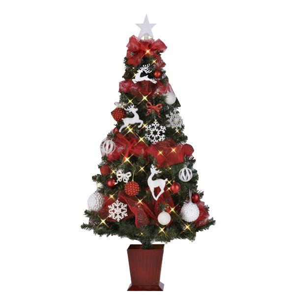 クリスマスツリー 【トナカイシーン】 150cmサイズ 四角ポット付き 『セットツリー』 〔イベント パーティー〕