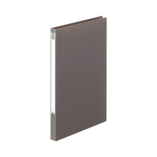 (まとめ) TANOSEE Zファイル(PP表紙) A4タテ 100枚収容 背幅20mm ダークグレー 1セット(10冊) 【×5セット】