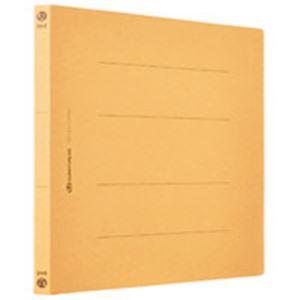 (業務用5セット) フラットファイル/紙バインダー 【A4/2穴 120冊入り】 ヨコ型 イエロー(黄) D018J-12YL