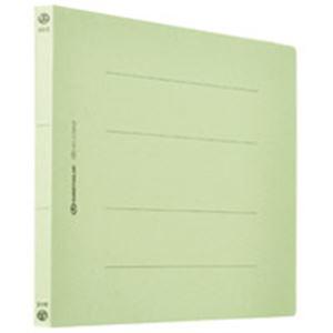 (業務用5セット) フラットファイル/紙バインダー 【A4/2穴 120冊入り】 ヨコ型 グリーン(緑) D018J-12GR