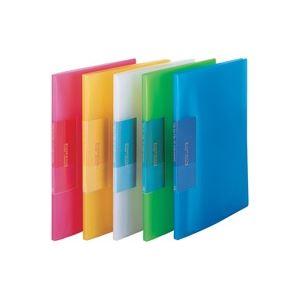 (業務用200セット) ビュートン 薄型クリアファイル/ポケットファイル 【A4】 10ポケット FCB-A4-10C ブルー(青)