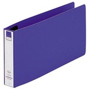 (業務用100セット) LIHITLAB リング式ファイル 【統一伝票/2穴】 ヨコ型 とじ厚:20mm F-880U-8 青