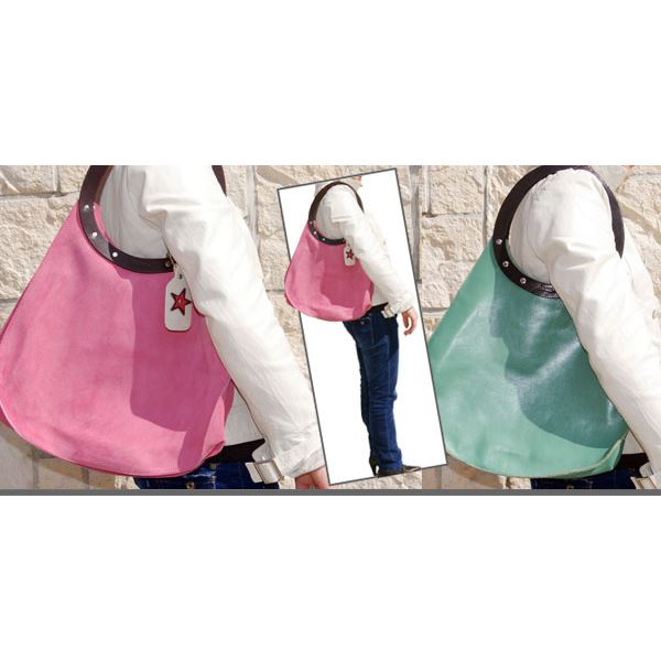 ★dean(ディーン) machine stitch tear-drop ショルダーバッグ ピンク
