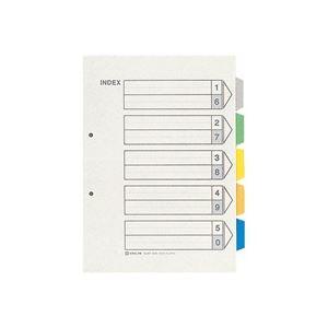 (業務用50セット) キングジム カラーインデックス/ファイル用仕切り 【A4/2穴 タテ型】 10組入り 907