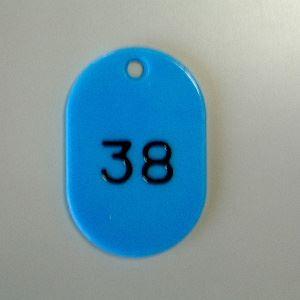 (業務用セット) 番号札 小判型・スチロール製 番号入(連番) CR-BG31-SB 空 入 【×2セット】