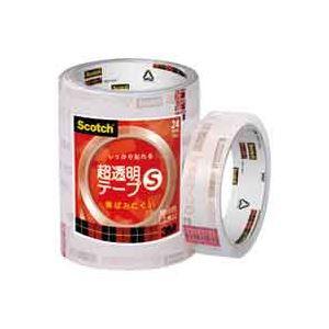 (業務用50セット) スリーエム 3M 超透明テープS BK-24N 工業用包装5巻