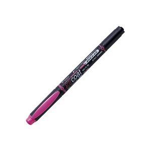 (業務用300セット) トンボ鉛筆 蛍光マーカー/蛍コート 【太字・細字/桃】 ツインタイプ WA-TC90