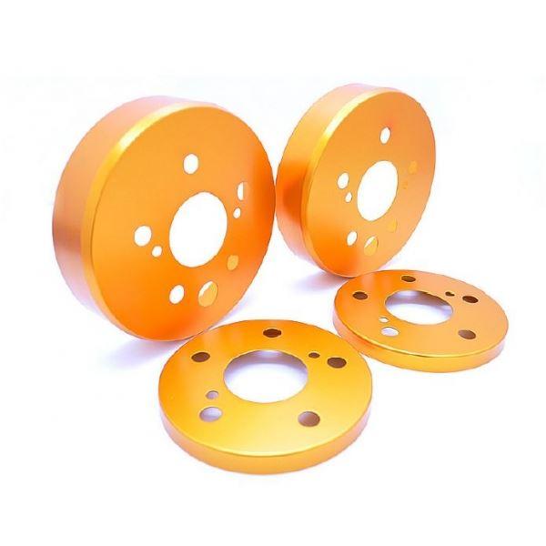 クラウンロイヤル GRS200/201/202/203 ハブカバー 2枚セット ゴールド リア用 シルクロード