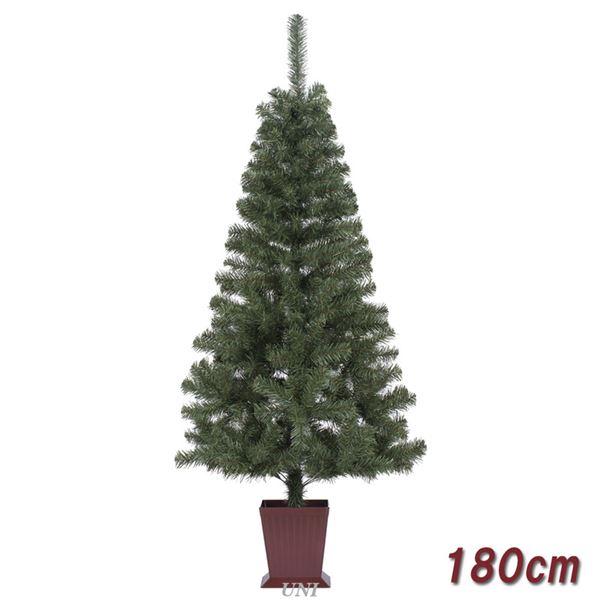 クリスマスツリー/オブジェ 【180cmサイズ】 四角ポット付き 『カナディアンツリー』 〔イベント パーティー〕