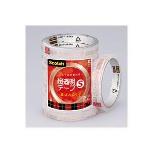 (業務用50セット) スリーエム 3M 超透明テープS BK-12N 工業用包装10巻