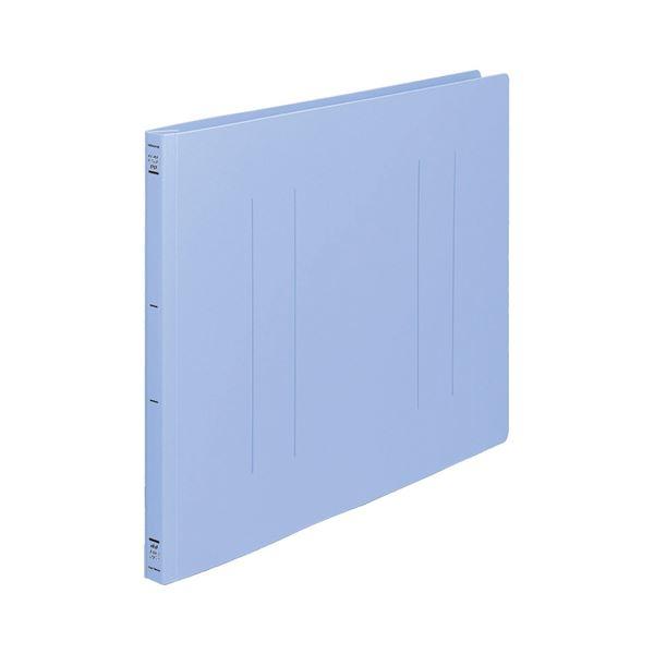 (まとめ) コクヨ フラットファイル(PP) A3ヨコ 150枚収容 背幅20mm 青 フ-H48B 1セット(10冊) 【×2セット】