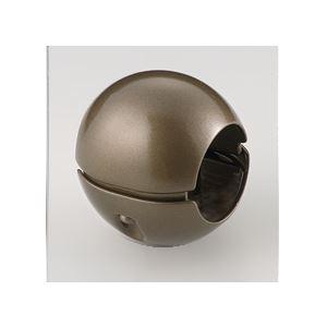【10個セット】階段手すり滑り止め 『どこでもグリップ』ボール形 亜鉛合金 直径38mm アンバー シロクマ 日本製