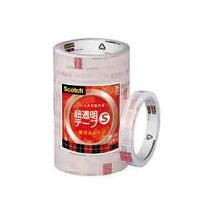 (業務用50セット) スリーエム 3M 超透明テープS BK-15N 工業用包装10巻