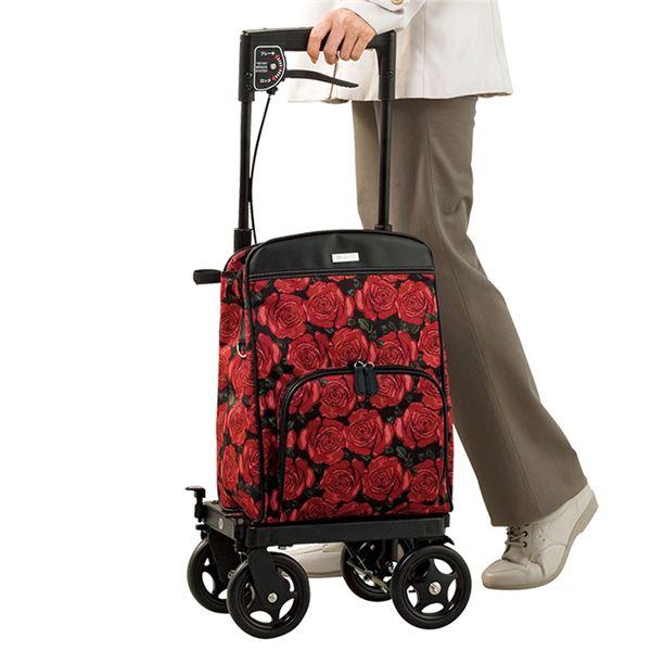 横引きキャリーバッグ/メロディ プリモ 【右用/右手にブレーキ】 アルミ製 積載重量約8kg ローズ