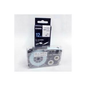 (業務用50セット) カシオ CASIO 配線マーカーテープ XR-12HMWE 12mm