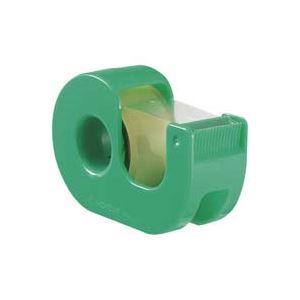 (業務用200セット) ニチバン ハンドカッター付セロテープCT-18DRG緑