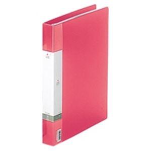 (業務用30セット) LIHITLAB クリアブック/クリアファイル リクエスト 【A4/タテ型】 差し替え式タイプ G3802-3 赤