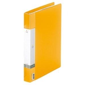 (業務用30セット) LIHITLAB クリアブック/クリアファイル リクエスト 【A4/タテ型】 差し替え式タイプ G3802-5 黄