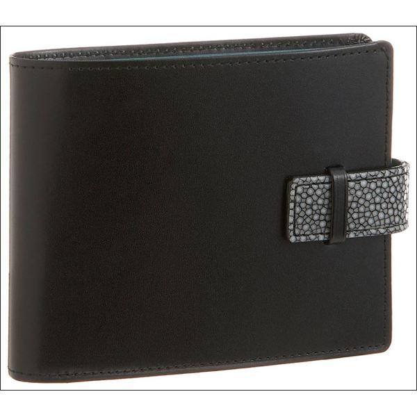 Colore Borsa(コローレボルサ) 二つ折りコインケース付き財布 ブラック MG-001