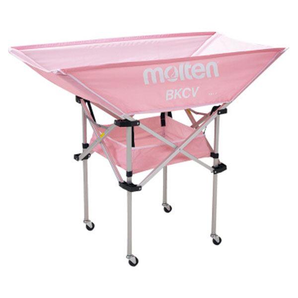モルテン(Molten) 折りたたみ式平型軽量ボールカゴ(背高) ピンク BKCVHPK