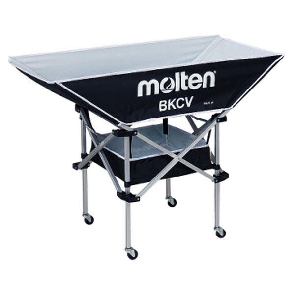 モルテン(Molten) 折りたたみ式平型軽量ボールカゴ(背低) 黒 BKCVLBK