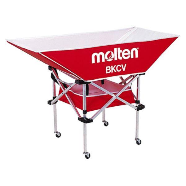 モルテン(Molten) 折りたたみ式平型軽量ボールカゴ(背低) レッド BKCVLR