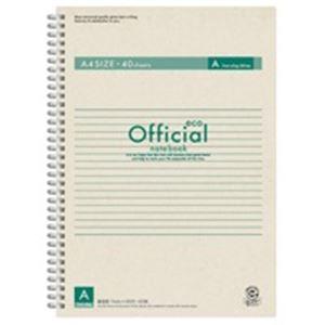 (業務用100セット) アピカ オフィシャルリングノート FSWE104A A4 A罫