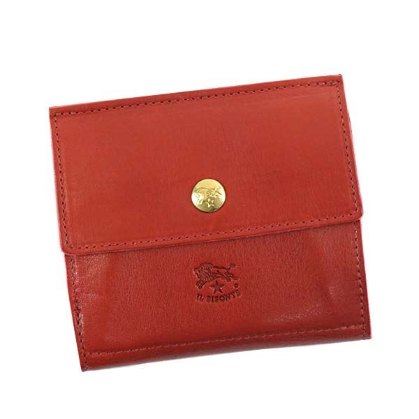 IL BISONTE(イルビゾンテ) Wホック財布 C0910 245 RUBY RED
