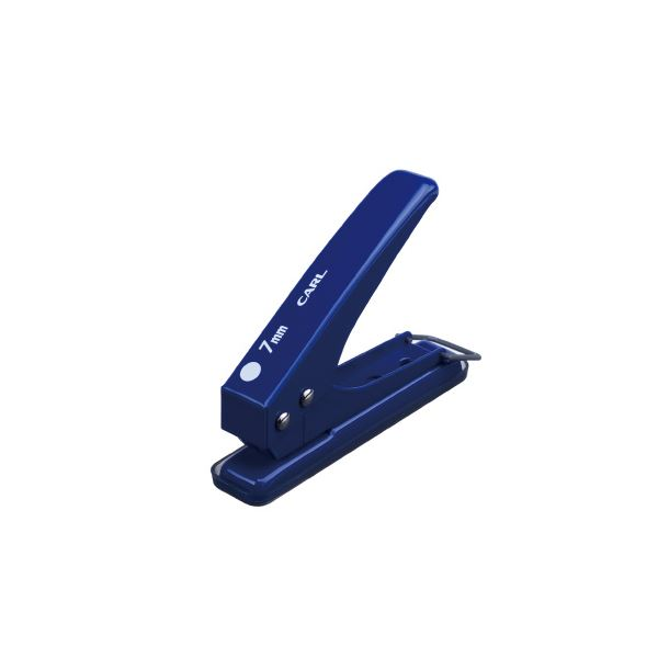 (まとめ)カール事務器 1穴パンチ SD-15-7-B ブルー【×50セット】