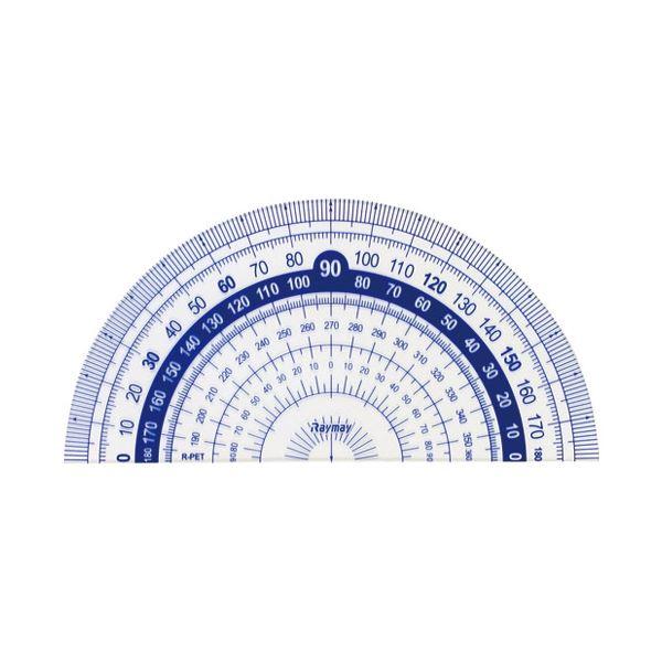 (まとめ)レイメイ藤井 はしゼロ目盛り分度器9cm APJ92【×200セット】