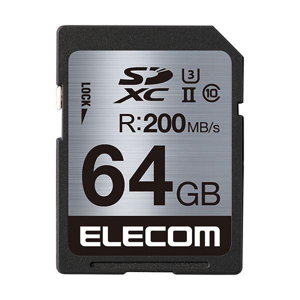 エレコムUHS-II/U3対応SDXCメモリカード 64GB MF-FS064GU23R 1枚