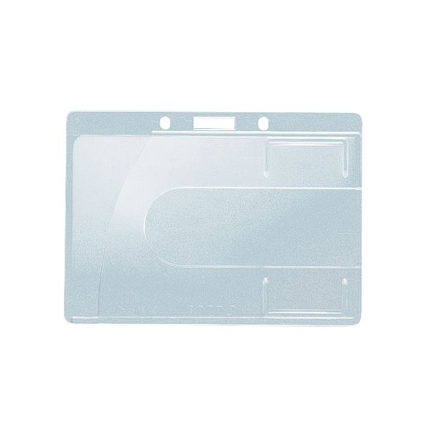 (まとめ) ライオン事務器 名札用ホルダー ヨコ型ハードタイプ IDカード用 N200H-2P 1パック(2個) 【×30セット】