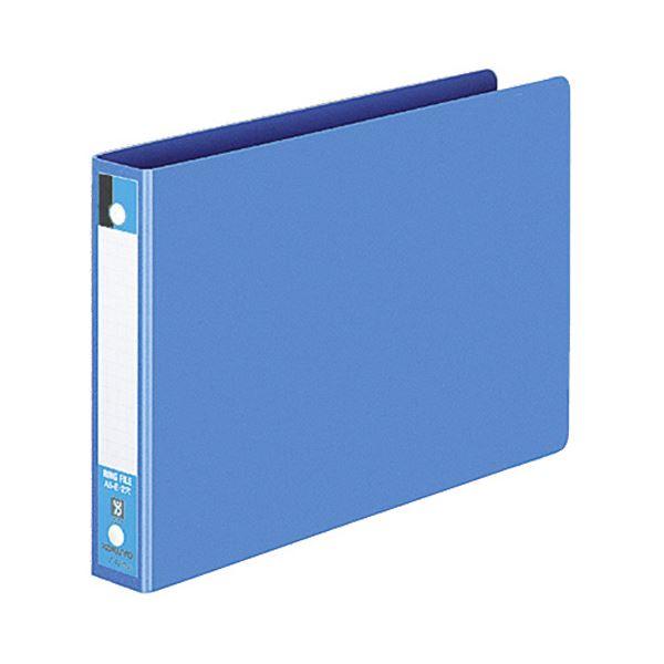 コクヨ リングファイル 色厚板紙表紙A5ヨコ 2穴 170枚収容 背幅30mm 青 フ-427B 1セット(40冊)