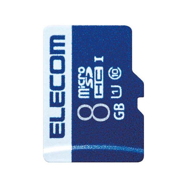 (まとめ)エレコム microSDHCカード 8GB MF-MS008GU11R【×5セット】