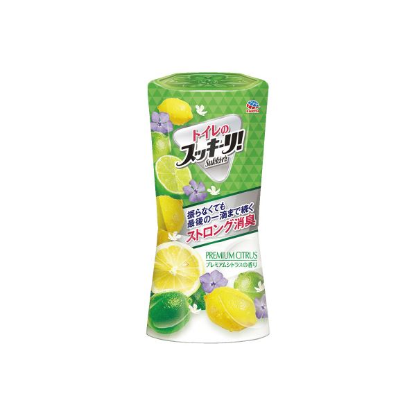 (まとめ)アース製薬 トイレのスッキーリ シトラス 400mL【×10セット】