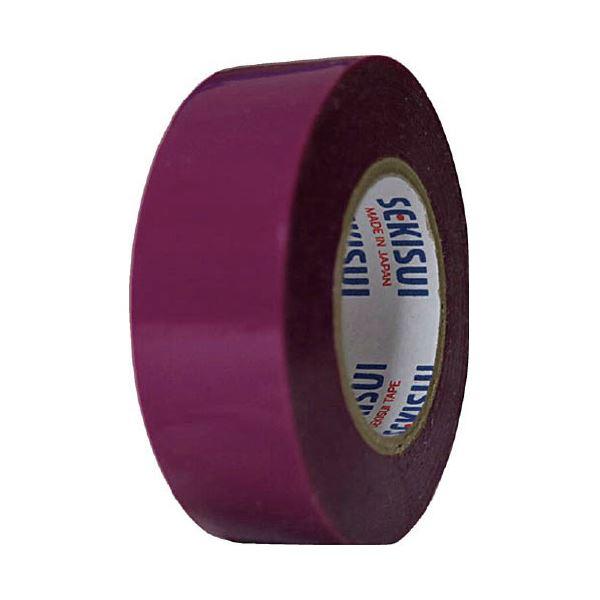 (まとめ)セキスイ ビニールテープ V360E01 19mm×10m 紫【×200セット】