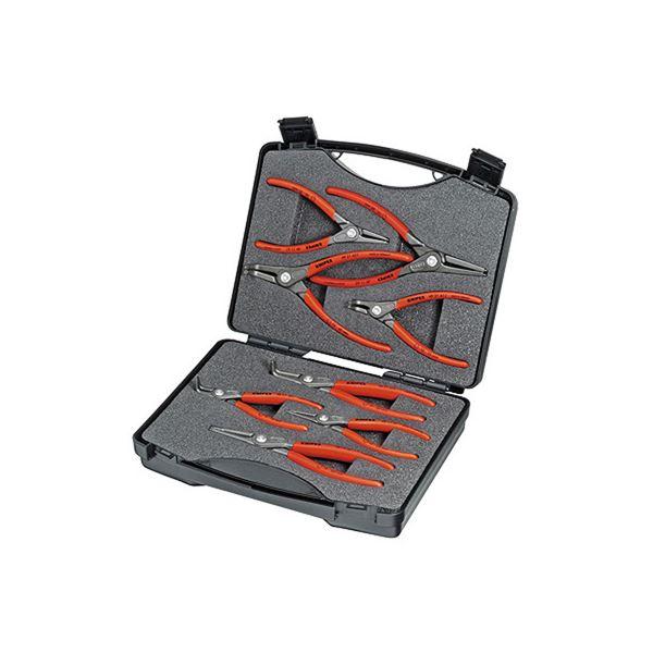 【お取り寄せ】 精密スナップリングプライヤーセット(8本組):アスリートトライブ KNIPEX(クニペックス) 002125-DIY・工具