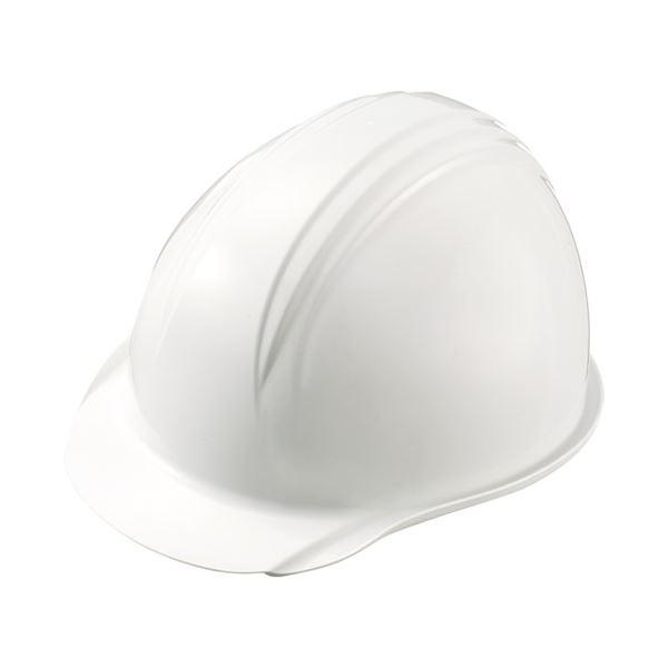 (まとめ)加賀産業 ヘルメット つば(雨溝)付 白【×10セット】
